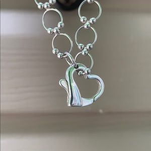 Jewelry - 925 sterling silver heart clasp necklace